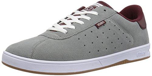 Etnies Herren the Scam Low-Top Sneaker, Grau (grey/burgundy), 39 EU