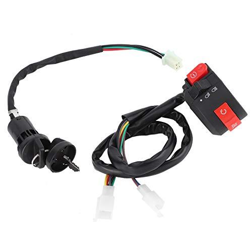Interruptor de apagado del manillar con 2 llaves Interruptor de encendido Accesorio de TV modificado para 50cc 70cc 90cc 110cc 125cc