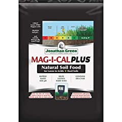 5,000 SQFT Coverage, Mag-I-Cal Plus For Acidic Soils Natural Soil Food For Lawns Rapidly Adjusts Soil pH Helps Loosen Heavy, Hard Packed Soils Corrects Acidic Soil