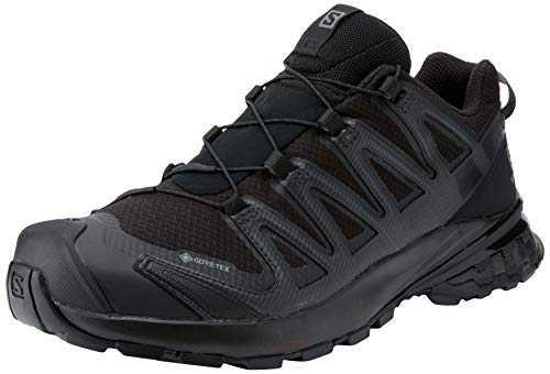 SALOMON Women's Trail Running Shoes, XA PRO 3D 3D GTX W, Colour: Black (Black/Black/Phantom), Size: UK Size 4.5