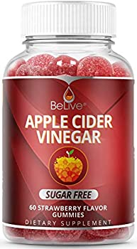 60-Count BeLive Apple Cider Vinegar Sugar Free Gummies