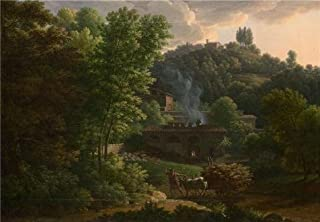 Oil Painting 'Franois-Xavier Fabre - Italian Landscape,1811' Printing On Perfect Effect Canvas , 16x23 Inch / 41x59 Cm ,the Best Bathroom Decor And Home Decoration And Gifts Is This Best Price Art Decorative Prints On Canvas