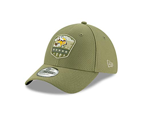 New Era 39Thirty NFL Salute to Service Minnesota Vikings Cap grün, L/XL