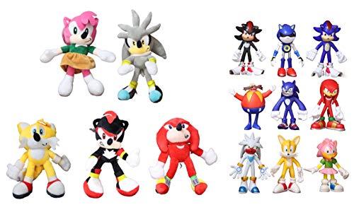Peluche Sonic 14pcs / lotBlack Sonic juguetes de peluche muñecos de peluche suaves juguetes de peluche de bebé regalo para la Navidad de los niños envío gratis