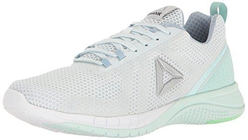 Reebok Women's Print Run 2.0 Shoe, Polar Blue/Gable Grey/Mist/Mint Green/White/Silver, 7.5 M US