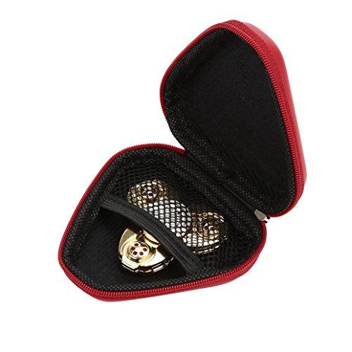 Jimmackey Caja A Prueba De Polvo Mano Spinner Fidget Spinner Enfoque Juguete (Rojo)