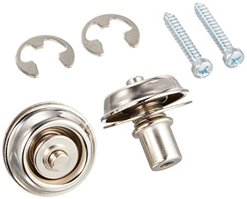 Jim Dunlop straplock Flush–Juego de níquel