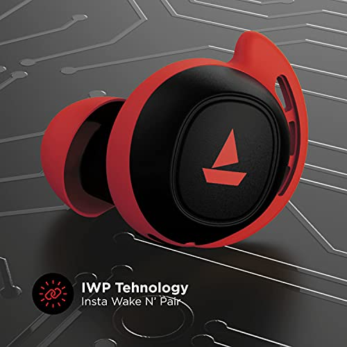 boAt Airdopes 441 TWS Ear-Buds with IWP Technology, Immersive Audio, Up to 30H Total Playback, IPX7 Water Resistance, Super Touch Controls, Secure Sports Fit & Type-C Port(Raging Red)