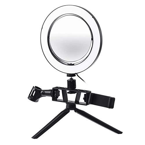 Heqianqian Anillo de luz para selfies de 8.7/12.6 pulgadas, regulable, 120 LED, de vídeo, kit de trípode para transmisión en vivo LED anillo de luz (tamaño: B; color: como se muestra)