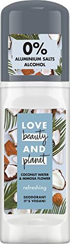Love Beauty And Planet Refreshing Deo Roll-On für die Achselpflege Coconut Water & Mimosa Flower ohne Aluminium, 1 Stück (50 ml)