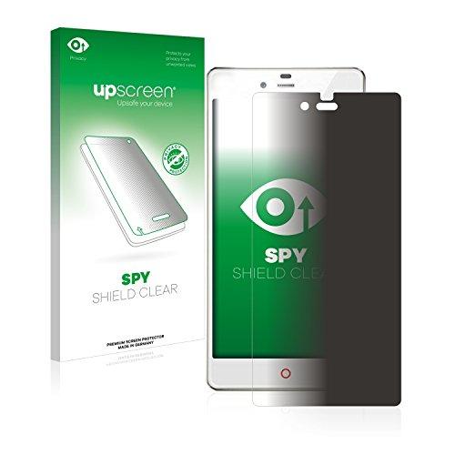 upscreen Anti-Spy Blickschutzfolie kompatibel mit ZTE Nubia Z9 Mini Privacy Screen Sichtschutz Bildschirmschutz-Folie