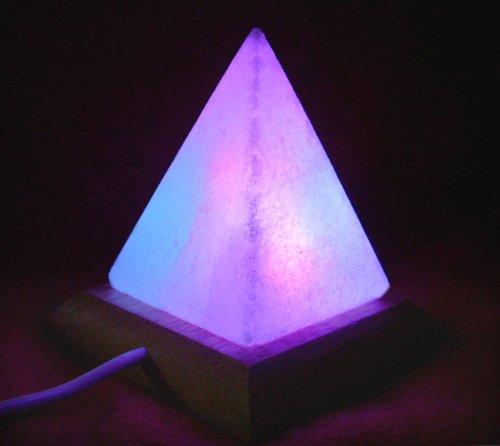 LAMARE Lámpara de Pirámide de USB de Escritorio de Sal del Himalaya Multicolor