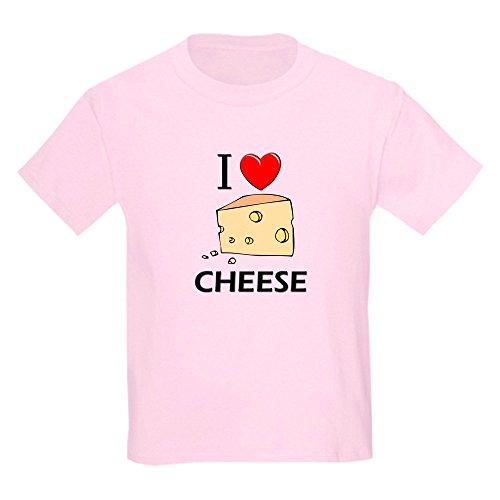 CafePress I Love Cheese Kids Light T Shirt Kids Cotton T-Shirt