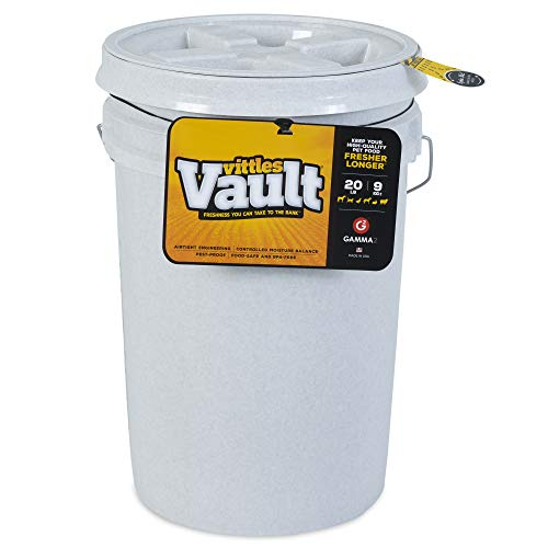 Gamma2 Vittles Vault Outback Airtight Pet Food Bucket Container, 20 Pounds