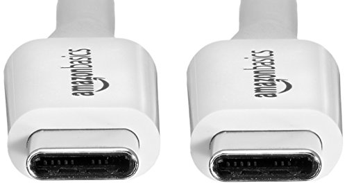 AmazonBasics USB Type-C to USB Type-C 3.1 Gen1 Adapter Charger Cable - 6 Feet (1.8 Meters) - White