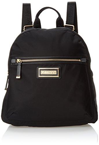 Calvin Klein Belfast Nylon Key Item Backpack, Black/Gold