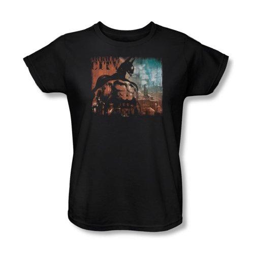 Batman: Arkham City - Ciudad del golpe de gracia de la Mujer T-Shirt En Negro, XX-Large, Black