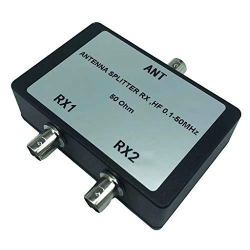 Meipai - Divisor de antena portátil RX HF 0,1 – 50 MHz 50 Ohm BNC conectores de señal de cable coaxial para TV satélite