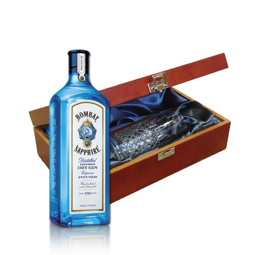Photo of Bombay Sapphire Gin In Wooden Presentation Box With Royal Scot Glass