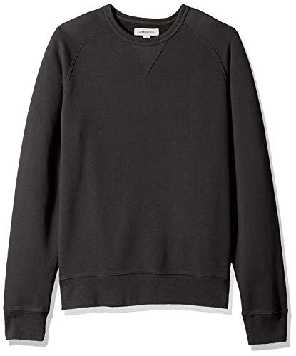 Amazon Brand - Goodthreads Men's Crewneck Fleece Sweatshirt, Black, X-Small