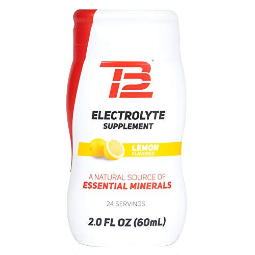 TB12 Electrolyte Supplement for Optimized Hydration - Liquid Drops for Water, Gluten-Free, Sugar-Free, Vegan, with Magnesium, Potassium, 24 Servings (Lemon Flavor)