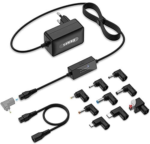 BERLS Universal 5V-20V 36W Schaltnetzteil Mit 9 Adapterstecker, 1 Umgekehrte Polarität Kabl 5V, 6V, 7V, 8V, 9V, 10, 11V, 12V, 13V, 14V, 15V, 16V, 17V, 18V, 19V, 20V Haushaltselektronik, 3A max