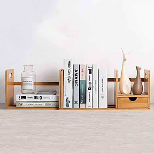 Yxsd Étagère en Bois Extensible/Support de Bureau Organisateur/étagère de Rangement Utilitaire avec tiroir - Beige