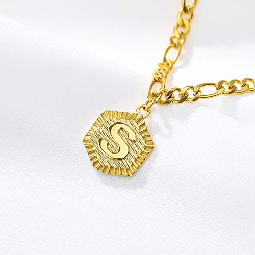 ZBXCVZH Initial Letter Anklet For Women Stainless Steel Anklets 21cm + 10cm Extender Gold Chain Alphabet Foot Accessories Jewelry (Metal Color : S)