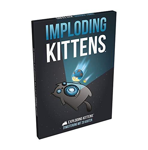 Asmodee ASMD0018 Exploding Imploding Kittens Kartenspiel Erweiterung, Mehrfarbig, bunt, Deutsch