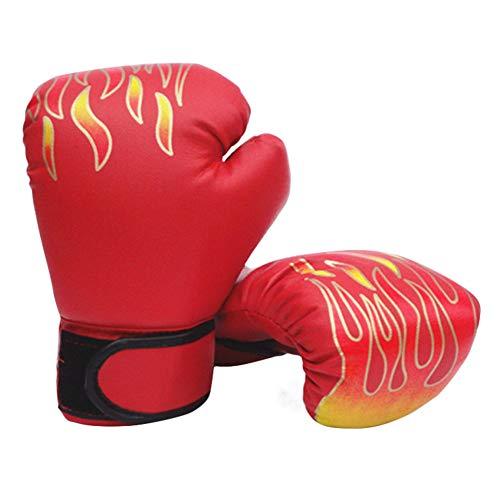 Par Luva Boxe Muay Thai Fogo Profissional Par Soco Bate Treino VERMELHO