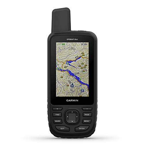 """Garmin GPSMAP 66st, Rugged Multisatellite Handheld with Sensors and Topo Maps, 3"""" Color Display"""