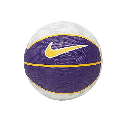 Nike Pallone Da Basket Lebron James 07 Playground 4P Pallacanestro NBA Lakers (giallo - viola)