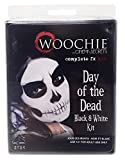 Woochie Day of The Dead Makeup Kit - Professional Quality Halloween Costume Makeup - Black/White