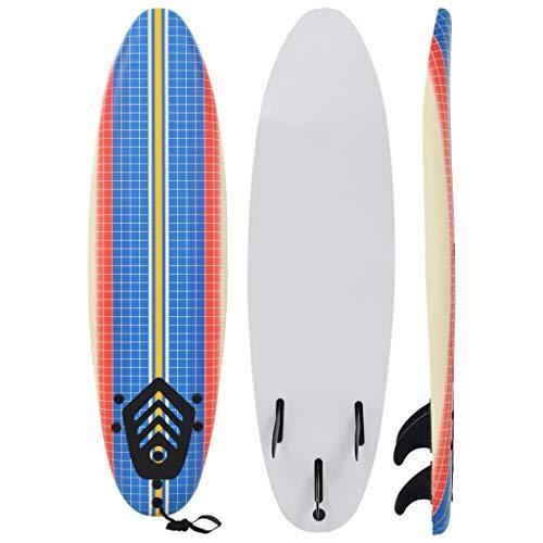 Benkeg Tabla De Surf Azul Y Crema diseño Mosaico 170 X 46,8