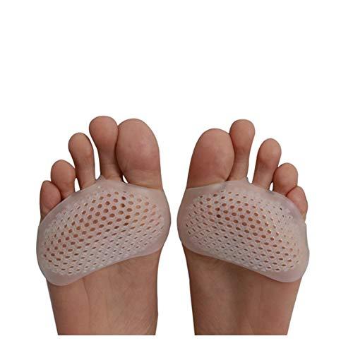 Plantillas Para Zapatos Desodorante Suela 3 pares de silicona suave de la zapatos del tacón alto Slip alivio del dolor Protect Resistente cuidado de los pies de la pata delantera media vara invisible