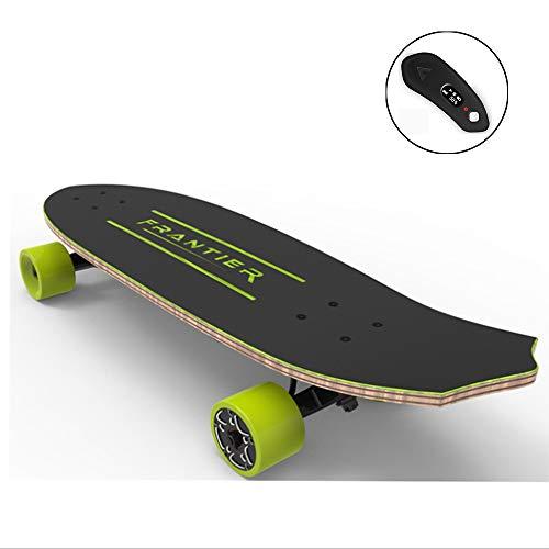 LSXX Elektrisch skateboard met afstandsbediening voor cruises, draagbaar, professioneel skateboard (borstelloze kubusmotor, bereik 10 km)