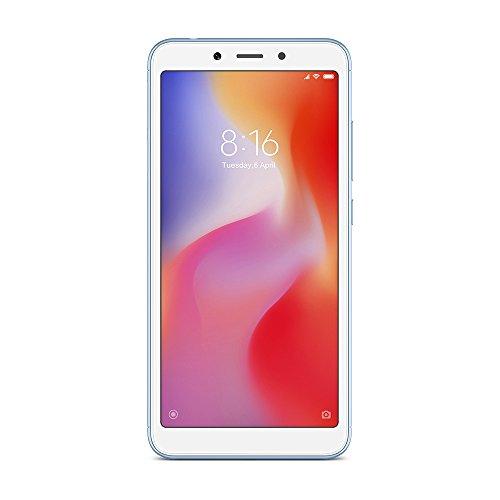 "Xiaomi Redmi 6A - Smartphone de 5.45"" (Quad-Core 2.0 GHz, RAM de 2 GB, memoria de 16 GB, cámara de 13 MP, Android 8.1) color azul [versión española]"
