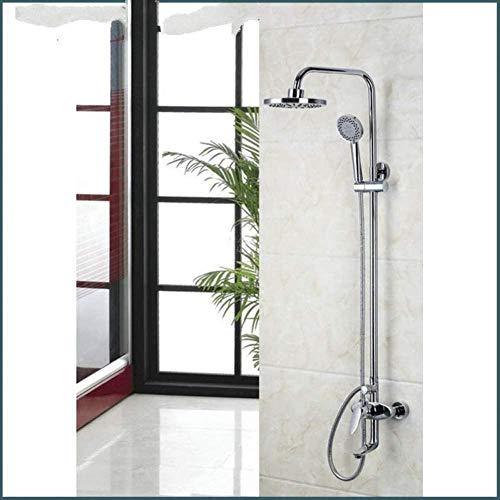 Juego de ducha de 8 piezas montadas en la pared de baño con ducha de mano