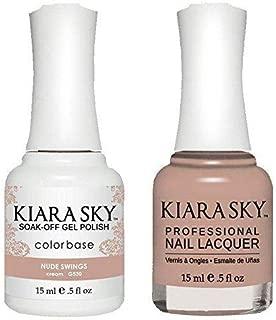Kiara Sky Matching Gel Polish and Nail Lacquer Nude Swings, 530