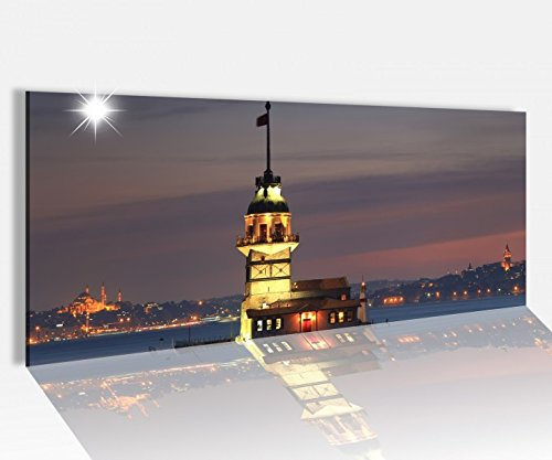 Acrylglasbild 100x40cm Skyline Istanbul Moschee Wasser Türkei Acrylbild Acryl Druck Acrylglas Acrylglasbilder 14A8220, Acrylglas Größe1:100cmx40cm
