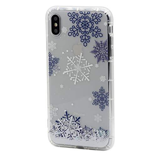 Keyihan iPhone 6S Plus/iPhone 6 Plus Funda Carcasa Cómic Divertido Lindo patrón Transparente Suave TPU Silicona Shockproof Parachoques Bumper Case para Apple iPhone 6s Plus (Copo de Nieve)