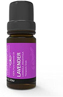 Luxury 100% Pure, Undiluted, Therapeutic Grade Lavender Essential Oil 10ml, Sourced from The Finest Plants with Full Testing. The Finest Oils from Essence Of Arcadia (Lavender)