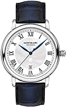 Montblanc Men's Star Legacy 42mm Blue Alligator Leather Band Steel Case Automatic Analog Watch 119956