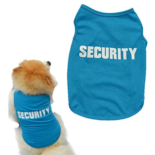 Clopon Pets Summer Tank Tops Soft Vest Breathable Puppy Shirts Cute Printed Clothes Pet Cosplay Apparel Blue