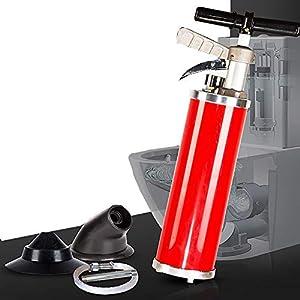 LOHOX Desatascador De DesagüEs Espiral Limpieza Multifuncional, Dredge ToolToilet Alcantarillas Limpiador Utilizado para Cocina, BañO, TuberíA Draga, Drenaje Alcantarilla (Rojo)