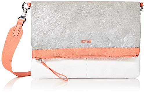 BREE Unisex-Erwachsene Vary 4, Grey/White/Sunset, CRO S. S20 Schultertasche Grau (Grey/White/Sunset)