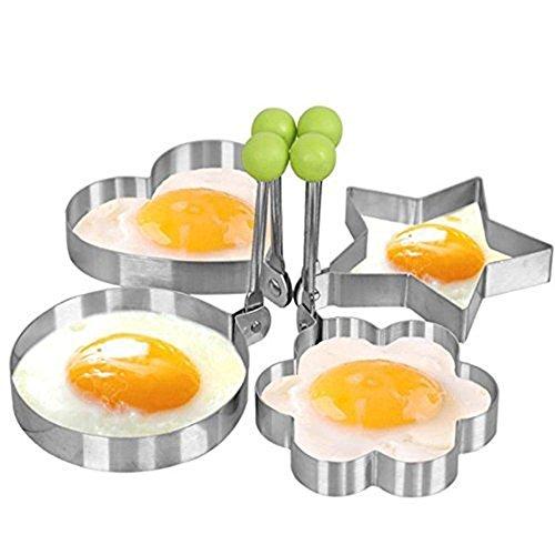 Cocina Acero Inoxidable Huevo Frito Molde forma corazón