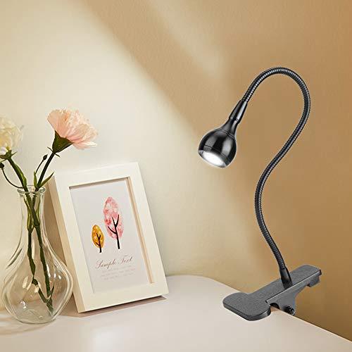 Socobeta Luz LED con pinza en cuello de cisne para trabajar en el dormitorio