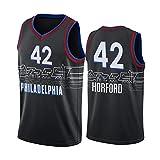 Z/A Philadelphia 76Ers Al Horford # 42 Ropa De Baloncesto Jersey Men's Sportswear Entrenamiento Deportivo Sudadera Suelta Chaleco De Manga Corta Top Camiseta,L