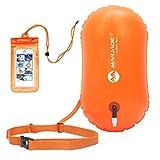 CLISPEED Boya de Natación de Seguridad Flotador de Remolque para Adultos Entrenamiento Seguro Flotador Inflable Boya de Natación para Flotar Kayak Natación Canotaje Canotaje Rafting Surf Pesca